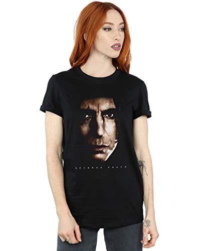 Harry Potter Damen Severus Snape Portrait Boyfriend Fit T-Shirt Schwarz XXX-Large