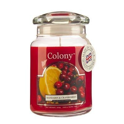 Mandarin & Cranberries Large Candle Jar by Wax Lyrical -