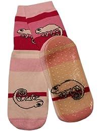 Weri Spezials Unisexe Bebes et Enfants ABS Eponge Cameleon Pantoufle Chaussons Chaussettes Antiderapants Rose
