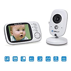 SUNLUXY Baby Monitor Video Baby Monitor Night Vision Camera LCD Monitor Children's Song by SUNLUXY