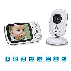 SUNLUXY Babyfone Video Baby Überwachung Nachtsicht Kamera LCD Monitor Kinderlied von SUNLUXY