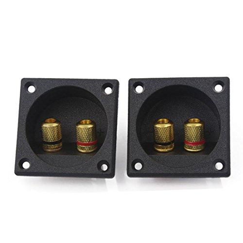 sourcingmap® 2Stück Square Audio Lautsprecher Feder Binding Post Dual Terminal Steckverbinder de