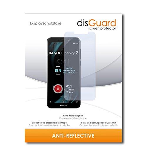disGuard® Bildschirmschutzfolie [Anti-Reflex] kompatibel mit Allview X4 Soul Infinity Z [2 Stück] Entspiegelnd, Matt, Antireflektierend, Extrem Kratzfest, Anti-Fingerabdruck - Schutzfolie