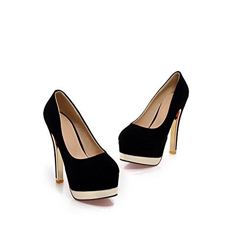 BalaMasa, antiscivolo, tacco alto, Xi, pompe-Shoes Shi in velluto Black