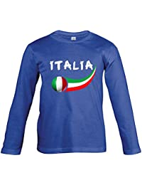 Supportershop Camiseta Fútbol Italia Royal L/S niño, T-shirt Italie royal L