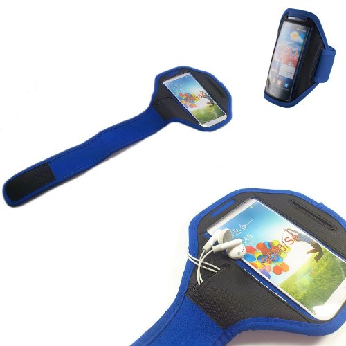 handy-point, Armhalter, Sportarmband für iPhone 6, 6S, Sony Xperia Ion, S, T, V, L, SP, M, M2, Z, Z1 Compact, Z3 Compact, E3, ZR, Samsung Core Plus, Grand Prime, Galaxy Express 2, Galaxy S5, S5 Neo, S5 Mini, Galaxy Core, Galaxy Nexus, Galaxy Alpha, Express, Ativ S, S4 Active, Motorola, G, Moto X, Ascend G510, G525, G526, G6, Y530, P2, P8, P8 Lite, HTC Desire 310, 601, HD2, One , One X, One XL, Sensation XL, One Mini 2, Desire 320, 510, 610, 300, 500, Windows 8X, S Plus, Advance, S2, S3, S3 Neo, S4, Huawei Y300, Sensation XL, Ascend G510, LG Optimus L9, L9 2, L Fino, L65, G2 Mini, L70, Nokia Lumia 920, 900, 630, Motorola Razar, LG Prada, Blau, Schwarz, Halter für Arm zum Joggen, Sport, Armtasche, Armband, Halter für Handy, Halterung für Smartphone, Universell 13cm x 6,5cm mit Fach für Schlüssel / Kopfhörer S4 Core