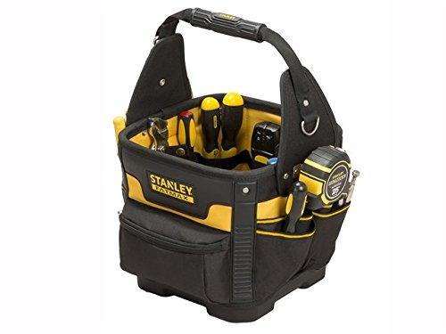 Stanley FatMax Werkzeugtasche/Transporttasche (29x29x38cm, robustes 600 Denier Nylon, ergonomischer Handgriff und Schultergurt, entnehmbare Teiler mit Gürtelclip, elastische Halterungen) 1-93-952