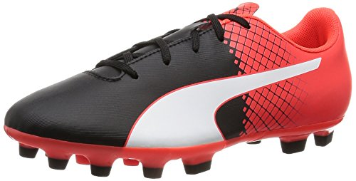 puma-evospeed-55-ag-jr-football-boot-black-nero-bianco-red-blast-size6
