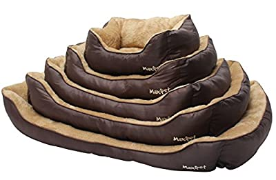 MaxiPet Deluxe Soft Washable Dog Pet Warm Basket Bed Cushion with Fleece Lining from Home and Garden Products Ltd