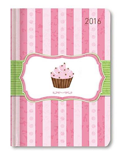 Buchkalender Mini Style Cupcake 2016 - Taschenplaner / Taschenkalender A6 - Day By Day - 352 Seiten (Mini 2015-planer)