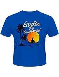 Eagles of Death Metal Blue Sunset Logo Rock oficial Camiseta para hombre