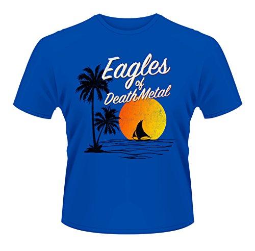 Eagles of Death Metal Blue Sunset Logo Rock oficial Camiseta para hombre (XX-Large)