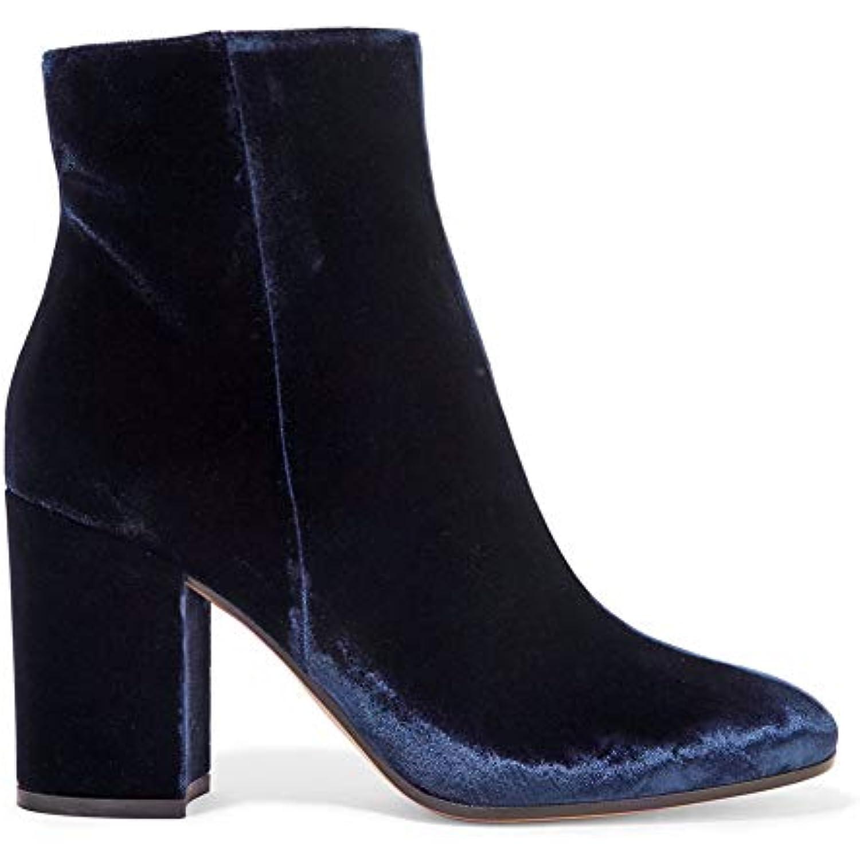 ¥*Shoes Bottines À Talons Hauts Pour Femmes Avec - Bottes Martin En Daim Tête Ronde,Blue,38EU - Avec B07KMCWMQJ - be6b30