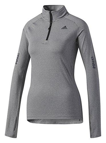 adidas Damen Supernova 1/2 Zip Shirt Supernova 1/2 Zip, Grau (Gris Fonce), M (Herstellergröße: M) -