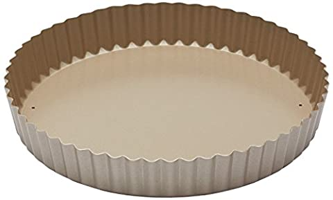 Paul Hollywood by KitchenCraft Non-Stick Fluted Tart Tin / Quiche Pan with Loose Base, 23 cm (9
