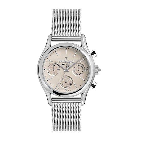 TRUSSARDI Reloj Multiesfera para Hombre de Cuarzo con Correa en Acero Inoxidable R2453127001
