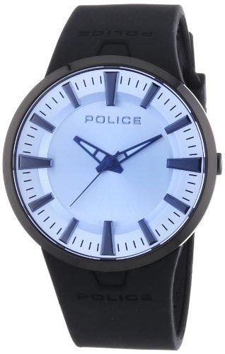 Police - PL.14197JSB-04 - Montre Mixte - Quartz Analogique - Cadran Bleu - Bracelet Silicone Noir