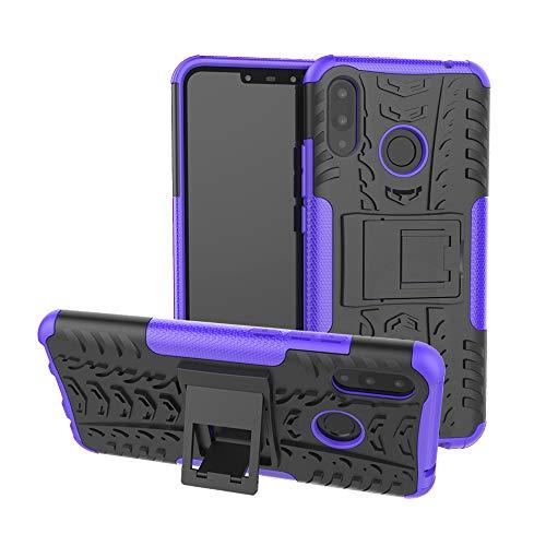 XINYUNEW Funda Huawei P Smart Plus, 360 Grados Protective+Pantalla de Vidrio Templado Caso Carcasa Case Cover Skin móviles telefonía Carcasas Fundas para Huawei P Smart Plus-Púrpura