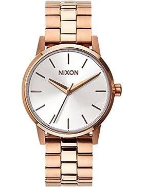 Nixon Damen-Armbanduhr Small Kensington Analog Quarz Edelstahl A3611045-00