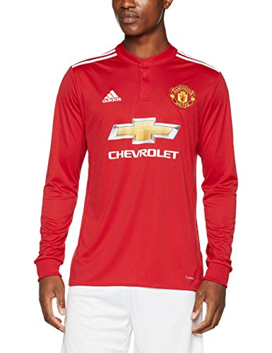 Adidas Men s Manchester United Home Replica Jersey - Real Red White Black e6c962bbafb56