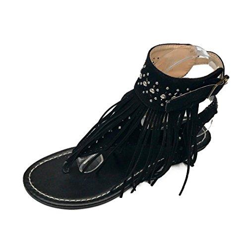 MatchLife Damen Flach Leder Schuhe 35 Blau Stiefel für