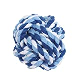 #10: SRI Knotted Cotton Ball Fetch and Chew Toy for Puppies and Cats (Red and White)