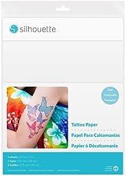 Silhouette America MEDIA-TATTOO Temp Tattoo Paper, 8.5x11 Inches, Basic