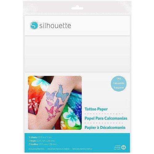 Silhouette America Bedruckbares Tattoopapier f. temporäre Tattoos, Papier, Transparent, 21,6 x 27,9cm
