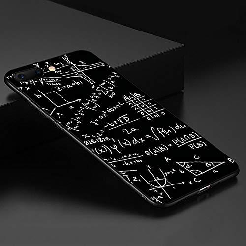 LIUCH Apple-Handy ShellLiebes-Herz-Paar-Planeten-Karikatur-Silikon-Telefon-Kasten für iPhone X 6 7 8 Plus für iPhone XR XS bereifte weiche rückseitige Abdeckung-Für iPhone 8-Mathe