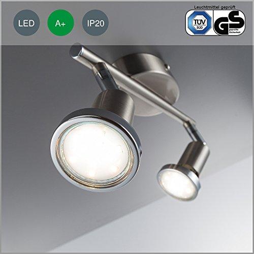 led-ceiling-light-ceiling-lamp-gu10-2-x-3-watt-250-lumen-bulb-included-incl-chrome-ring-matt-nickel-