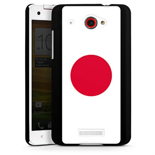 HTC Butterfly Hülle Schutz Hard Case Cover Japan Flagge Fußball