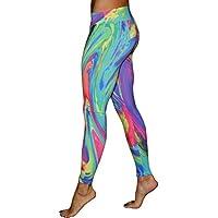 Leggings Deporte Mujer Logobeing Mallas Mujer Leggins Polainas de Fitness de Cintura Alta Pantalones de Yoga Gym Correr Pantalón Deportivo Running Pantalones de Pilates Gimnasia Pantalones Elásticos (Multicolor, S)