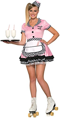 Forum Novelties, Inc Womens Trixie Sue Carhop Fancy Dress Costume ()