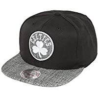 timeless design 2c6b2 bf99b Mitchell   Ness Men Caps Snapback Cap Woven TC NBA Boston Black - 494890  Adjustable