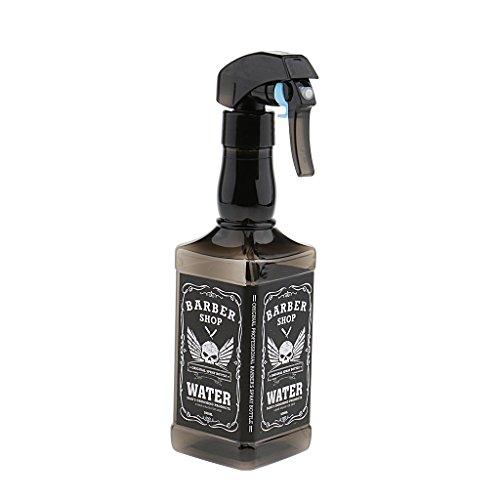 Baosity Plastique Vaporisateur Vide Bouteille Spray à Brouillard en Plastique Rechargeable à Parfum Huile Essentielle Lotion de Cheveux - 500ml - Noir, comme décrit