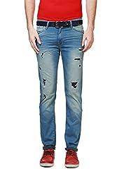 Allen Solly Mens Drop Crotch Jeans (8907467500277_ALDN316J06907_30W x 34L_Medium Blue Solid)