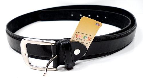 XXL Gürtel schwarz extra langer Leder Gürtel Bundweite 140 , 150, 160 cm Übergrößengürtel mit Dornschließe (160 cm Bundweite)