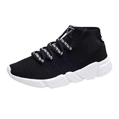 SOMESUN Herren Modisch Socken Schuhe Männer Jungen Modisch Einfarbig Weben Atmungsaktiv Mesh Laufschuhe Elastisch Freizeit Sportschuhe Weich Rutschfest Leichtgewicht Wanderschuhe