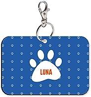 Sky Trends Rectangle Shape Collar Locket/Pendant for Dogs & Puppy -1059, Multicolour, Medium, 1 Count -