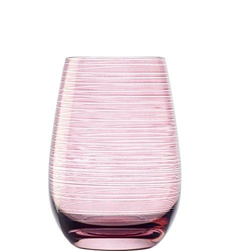 Vasos Twister de Stölzle Lausitz, 465 ML, Rosa, Juego de 6 Unidades,