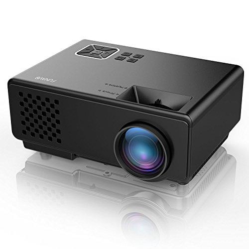 Beamer, FUNAVO RD-815 Projektoren 1500 Lumen LED Miniprojektor für Multimedia Heimkinos, Unterstützt 1080P, Laptops, Smartphones, Amazon Fire TV Sticks & DVDs per HDMI, USB, VGA & AV - Schwarz