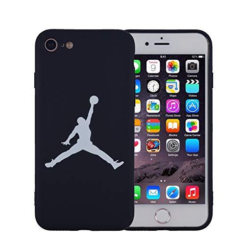 Onix Store Schwarze Silikonhülle mit Basketball-NBA-Player, Flexible Abdeckung für Ihr Handy (iPhone 7 und 8)