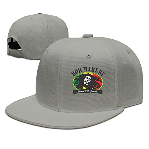 Z-Jane Bob Pop Marley Trucker Baseball Cap Hip Hop Cap Adjustable Snapback Flat Bill Natural Big Bill Strap