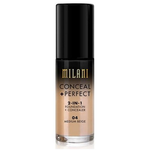 Milani Conceal + Perfect 2-in-1 Foundation Concealer, Medium Beige, 1.0 Fluid Ounce by Milani