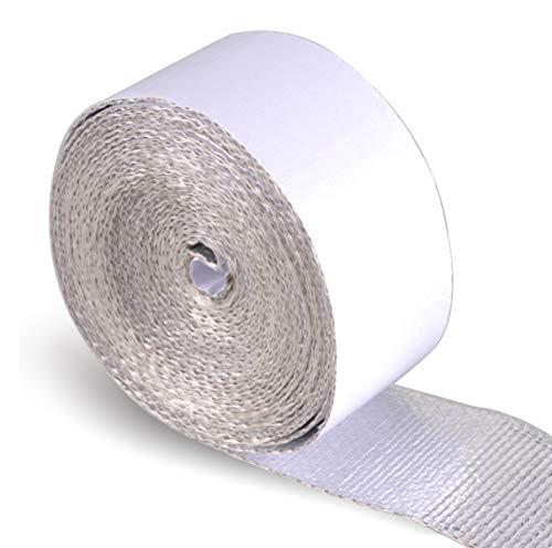 AutoEC® Hitzeschutzband Selbstklebende Hitze-reflektierende Band-Rolle, klebende unterstützte Hitze-Sperre für Auto, LKW, Motorrad (3,81 cm x 38,1 cm)