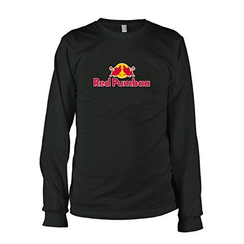 TEXLAB - Red Pumbaa - Langarm T-Shirt Schwarz