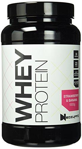 Premium Whey Protein für Muskelaufbau & Abnehmen in leckeren Geschmäckern | Low Carb Eiweiß-Shake, Eiweiß-Pulver mit Aminosäuren (BCAA) | NeoSupps Protein Pulver – Erdbeere Banane 1kg