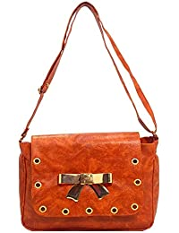 DCenterprises Women's Handbag/Shoulder Bag/Sling Bag Material- Synthetic Leather Color Brown - B07H6KJV5T