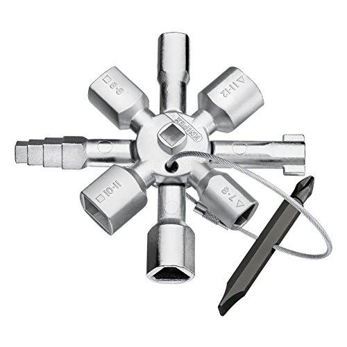 KNIPEX 00 11 01 TwinKey per tutti i sistemi di chiusura più comuni 92 mm