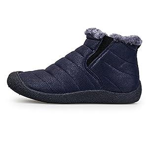 Mujer Botas de Nieve Zapatos, Gracosy Impermeables Calientes Botines Forradas Cortas Tobillo Boots Planas Invierno…